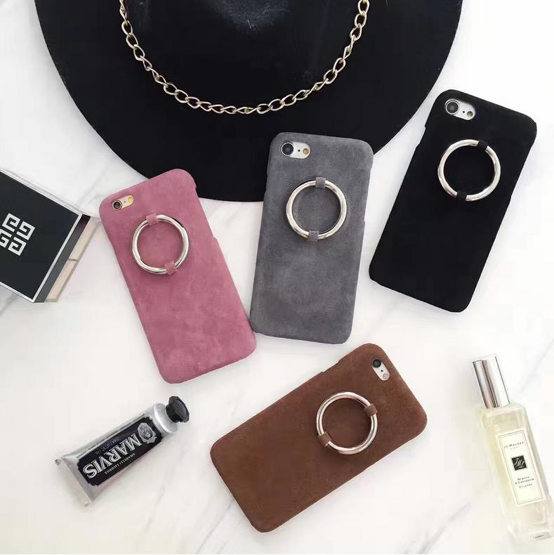 Concise Simple Flannelette Plush Phone Case For Iphone 7