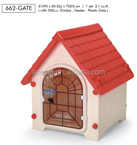 662-GATE-Taiwan design Lucky Dog House with Gate for small size,dog outdoor houses,Plastic Pet house