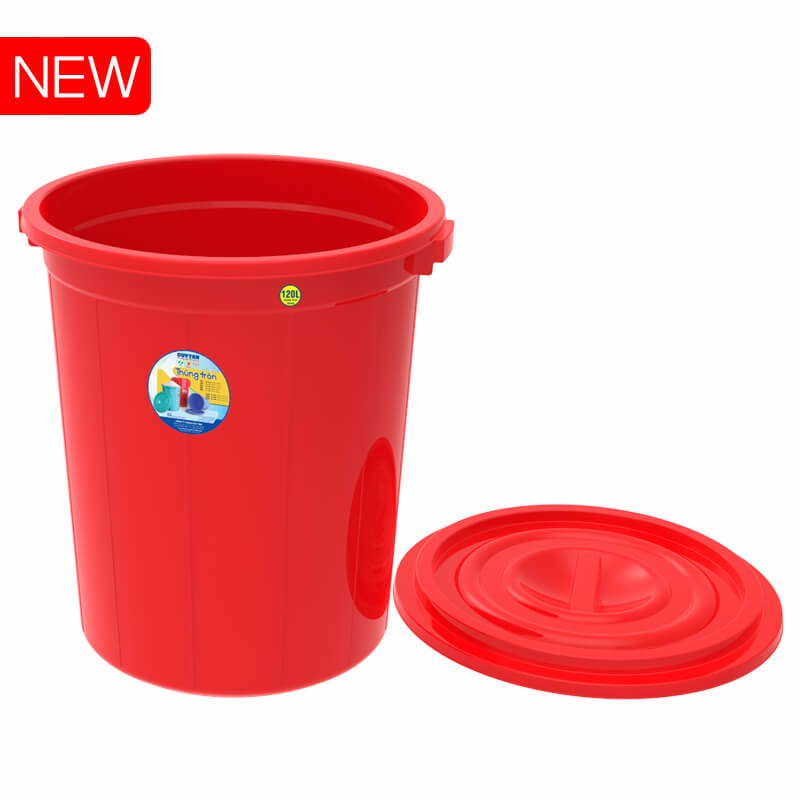 PLASTIC ROUND CONTAINER FOR RICE SELL TO CHINA INDIA - 120L No. 847