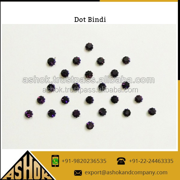 Crystal Dots On Organza Fabric For Festival Decoratiaon Dot Bindi