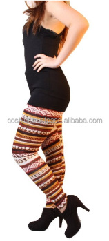 AZTEC Deer Knitted Wool Warm leggings, Active Wear, Fitness Wear, Yoga Wear, Gym Wear, Compression Wear, Gym Wears, Jogging Wear
