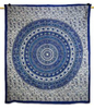 "Mandala Art Wall Decor Tapestry Wall Hanging Table Runner Blue Designer Table Cloth Bed Sheet 95"" X 82"" GiftTP782"
