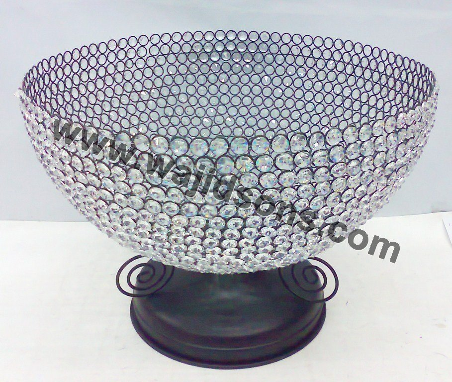 sunflower crystal & colored fruit salad decorative Bowl