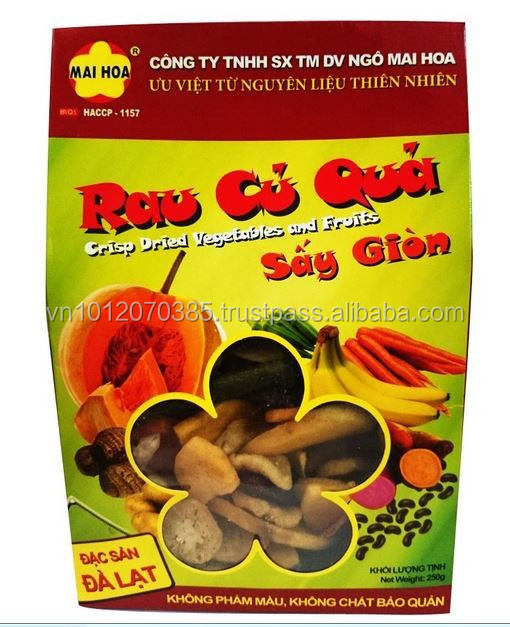Vietnam Good-Price Crisped Dried Vegetables and Fruits 250Gr