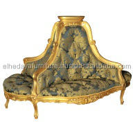 French gold center sofa