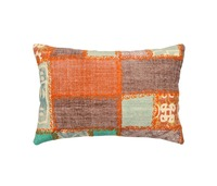 Patchwork Embroidered Pillow Case