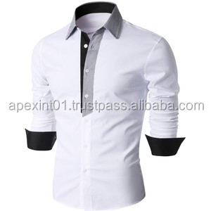 2015 long sleeve stripped cheap casual shirts wholesale cotton fashion men dress shirt plus size mens shirts