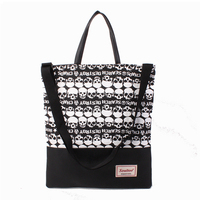 Korean design non woven canvas bag fancy fabric bag T-108 tote shoulder bag
