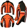 Motorbike Motorcycle Wind Waterproof Armoured All Sizes Orange Road Sports Jacket