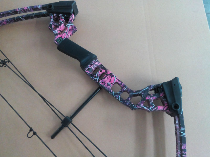 M120 hunting compound bow china wholesale Hunting archery fiberglass hunting bow 20-70lbs purple camo black color left hand bow