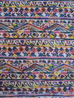 Screen printed african design pattern rayon fabric / 100% indian rayon printed fabric for garments wear
