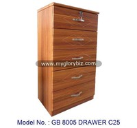 Big Wooden Storage Bedroom Furniture Cabinet In MDF 5 Drawers, drawers cabinet chest malaysia, drawer storage box for clothing