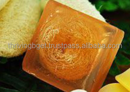 Handmade Soap - Natural Spa Fruit Soap Loofah Turmeric soap
