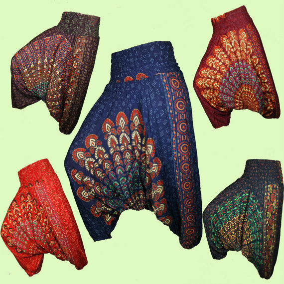 Latest 2015 Designer Aladdin Silk Harem Pants