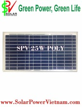 25W Poly solar panel - Germany/Korea/USA Solar Cell - SPV25P made in Vietnam