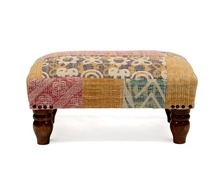 Natural Livings Upholstered Footstool