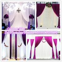 High quality backdrop pipe and drape for wedding with aluminum adjustabel backdrop poles and elegang panel