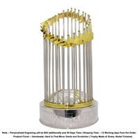 World series trophy, commissioners trophy, the MLB commissioners trophy. Full Size