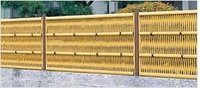 Durable and Oriental plastic garden fence panels with good design made in Japan
