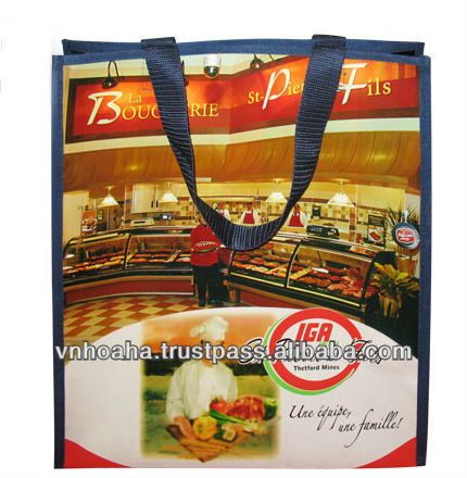 Vietnam good quality foldable reusable plastic shopping bag