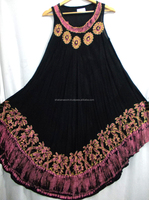 Hot Fashion Selling Original Trendy Latest Design Umbrella Dress 100% Rayon Crepe Indian Umbrella Dress
