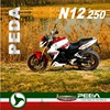 (N12) 2016 NEW 250cc powerful motorcycle racing EEC water cooling Italian Design EXCLUSIVE (PEDA MOTOR)