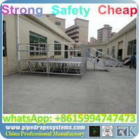 sturdy industrial steel storage stage platform
