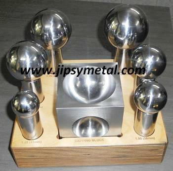 Jumbo Dapping Punch Set with Doming Block / Jewelry making Tools