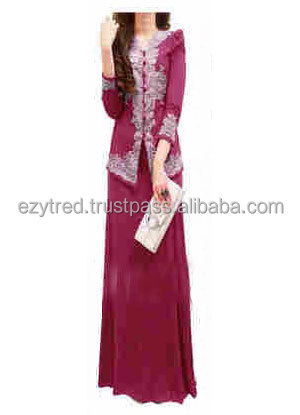 Lace Embroidery Design Kebaya Dress