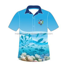 Sublimation Polo T Shirt Adult,2 Color sublimation T Shirt For Men
