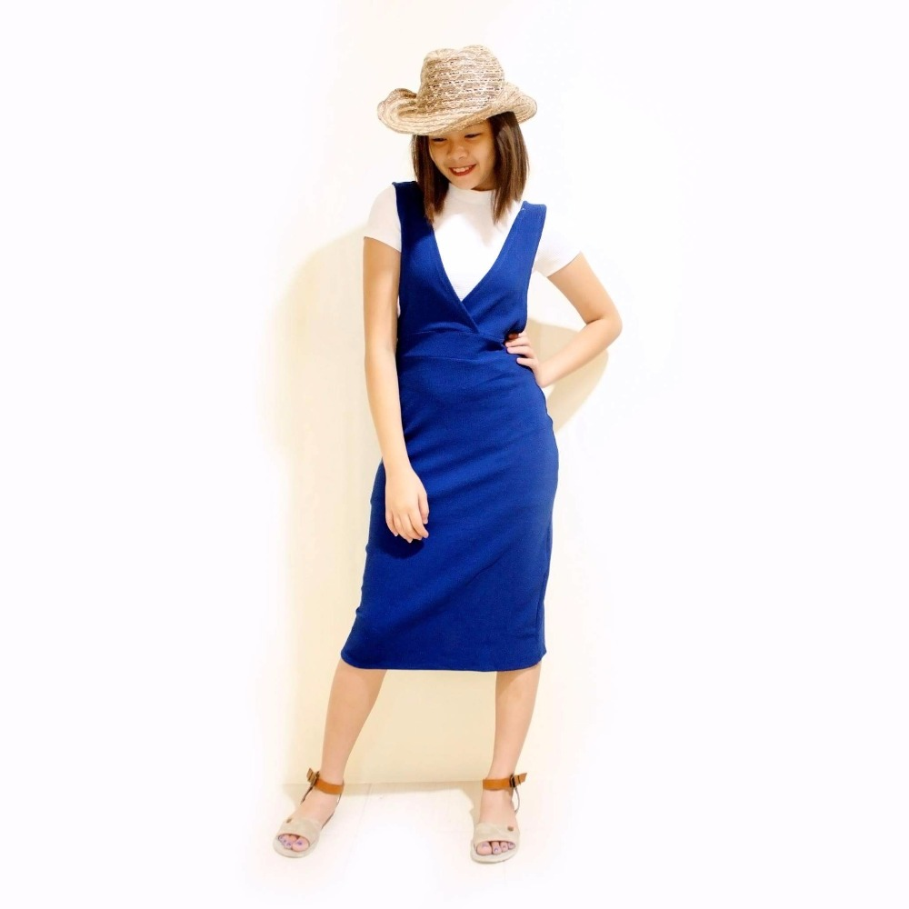 2-pc plain dress with inner