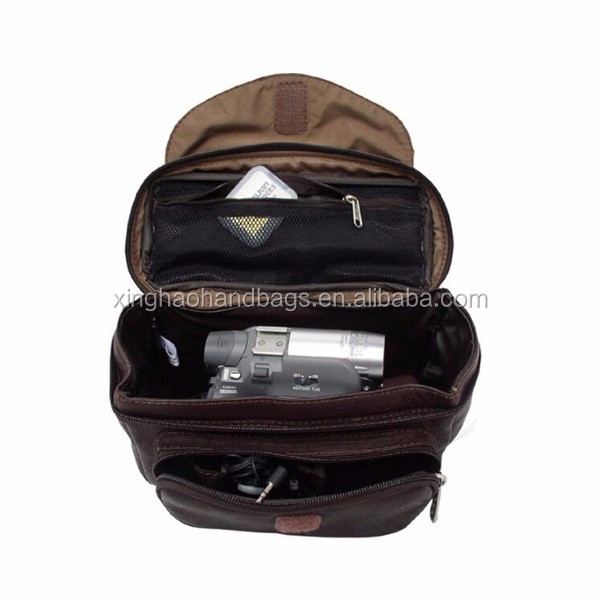 Vintage Handmade Genuine Leather Camera Bag digital camera bag manufacture china