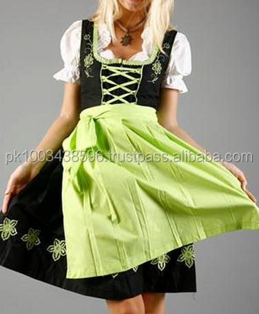 Best quality trachten mode dirndl oktoberfest german mini dirndl traditional bavarian dirndl dress