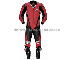 Spyke BLINKER RAC Leather Motorcycle Suits for Men,Motorbike Racing Leather Suits,Neon Green Leather Motorbike Racing Suit