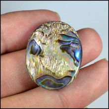 Natural Rainbow Flashy Abalone Shell Cabochon Gemstones