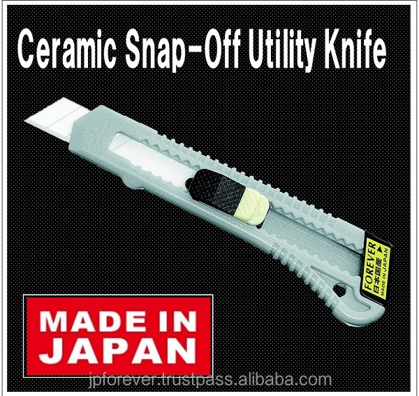 Japanese snap blade hobby knife, ceramic box cutter, very sharp, won't rust, use for cutting packaging, cardboard, adhesive tape