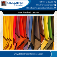 Full Grain Finished Cow Leather for Bags, Shoes and Belts