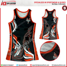 Custom netball dress, sublimated netball uniform, netball dress uniforms
