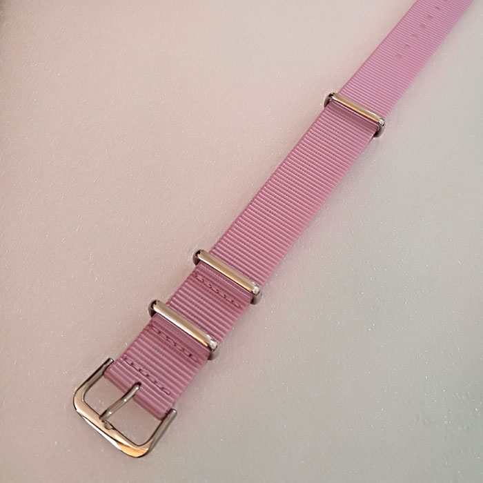 Pink Color NATO Strap Band 18mm 20mm 22mm Stainless Steel Hardware For DW Watch