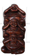 Wooden Craft Buddha Carving suar wood with brown polish