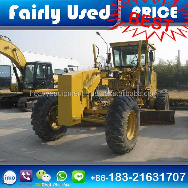 Used CAT 140K Motor Grader with Push Block for sale