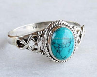 turquoise jewels 925 sterling silver vintage ring Wedding ring