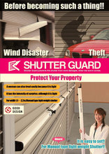 High-grade SHUTTER GUARD Protecter for WInd Disaster or Theft width 1.4m-2m SG-140S Silver-color made in Japan