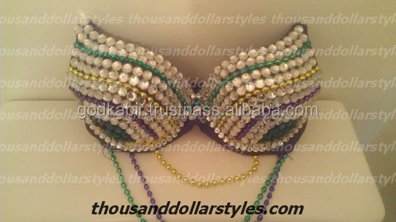 Brand New Collection Handmade Work Rhinestone Stylish Beaded Bra For Women Fashion