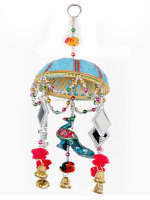 Indian Traditional Lac & Mirror Art Work Decorative Elegant Door Hangings Wind Chimes Online