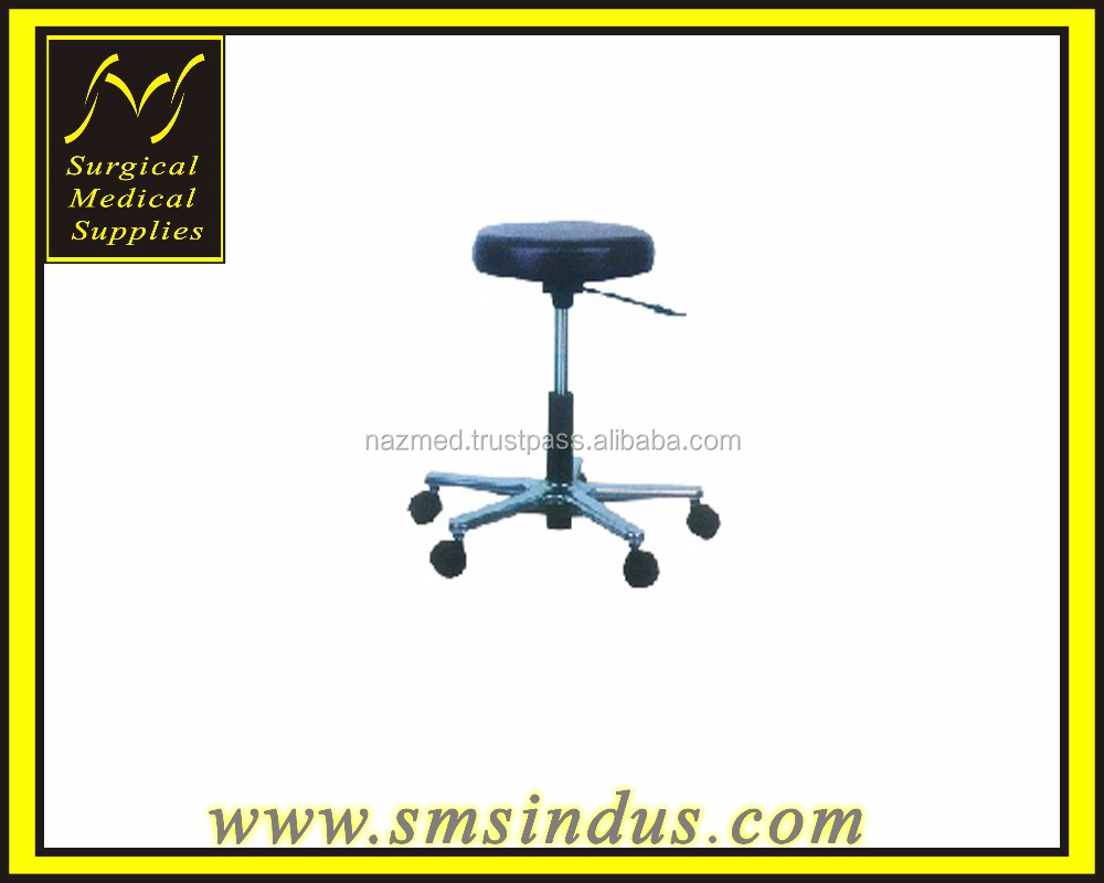 Surgeons Operation Stool Mobile On Castors Gas Spring Height Adjustment