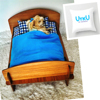 UYKU by Kemique - BROWN DOG BED - BLUE SHEETS