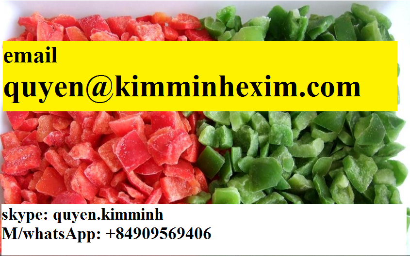 Vietnam Frozen Red/Yellow/Green Capsicum Diced (whatsApp: +84909569406 /hotmail: quyen@kimminhexim.com)