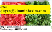 Vietnam Frozen Red/Yellow/Green Capsicum Diced (whatsApp: +84 908511785 /hotmail: quyen@kimminhexim.com)
