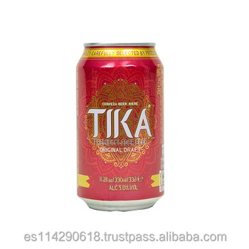 Tika Lager Beer 330ml canned 5.0% vol.alc 24x33cl